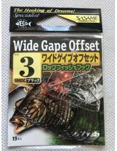 Japońskie haczyki Sasame Wide Gape Offset 19szt nr3