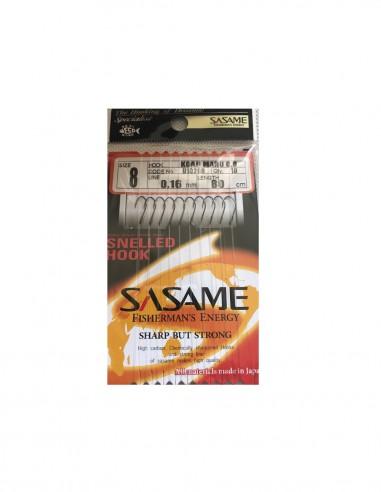Japońskie haczyki z przyponem Sasame Koaji Maru nr8 0.16mm