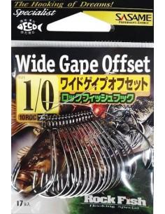 Japońskie haczyki Sasame Wide Gape Offset 17 szt. nr 1/0